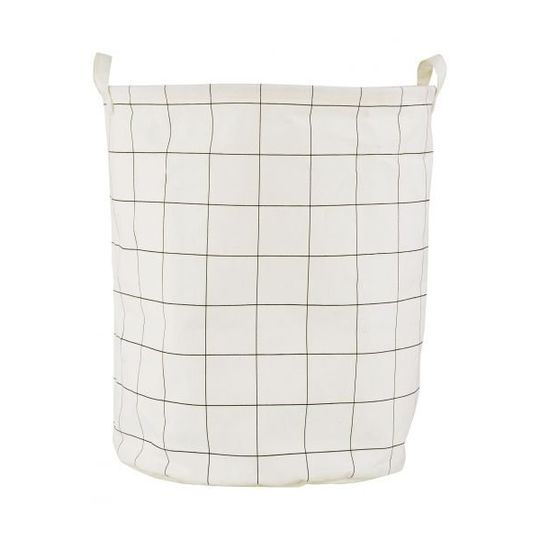 house doctor laundry bag / storage bag squares Ø40cm