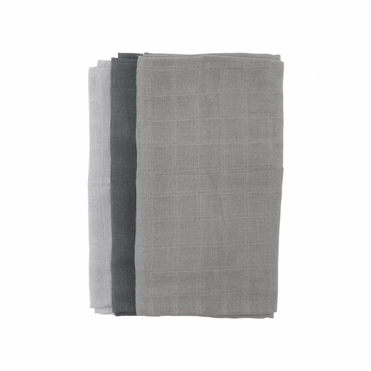meraki hydrofiel doeken 3-pack grijs