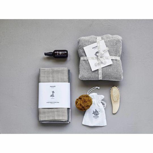 meraki muslin cloths 3-pack grey
