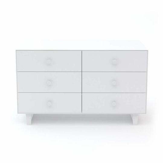 oeuf nyc merlin 6 drawer dresser rhea all white