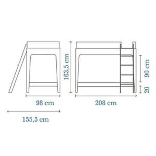 oeuf nyc hoogslaper / loft bed perch birch