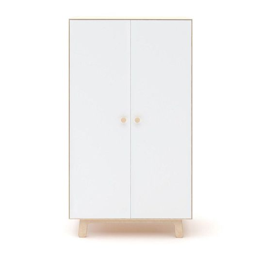 oeuf nyc merlin wardrobe white / birch