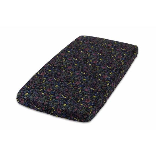 super carla fitted sheet baby wild flowers 70x140 black