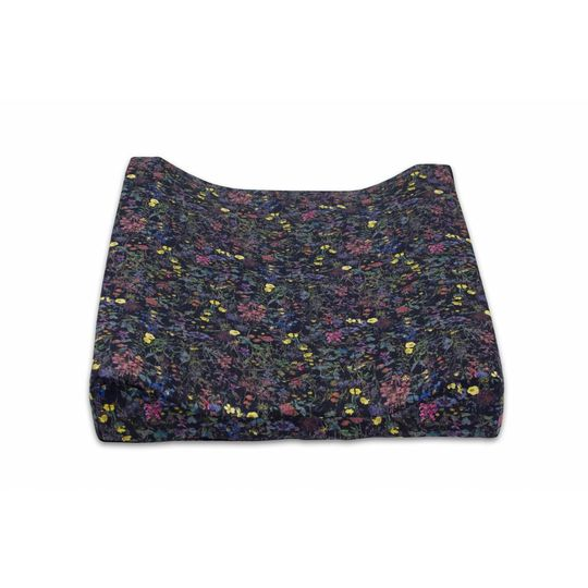 super carla changing cushion wild flowers black