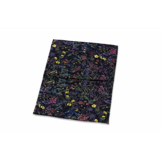 super carla cradle sheet wild flowers black 75x100