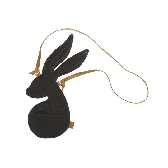 mies & co mini bag bunny black leather