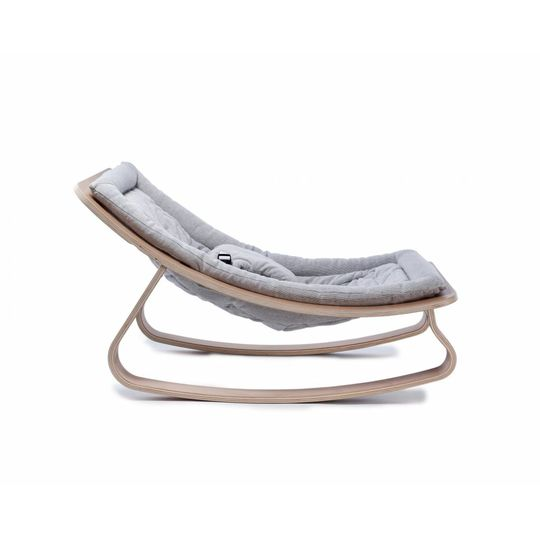 bouncer / baby rocker levo beech with 2 cushions sweet grey and gentle white