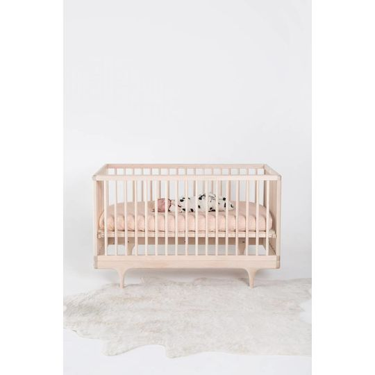 rylee + cru  fitted sheet baby cot blush scatter print