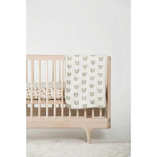 rylee + cru  muslin quilt bear print
