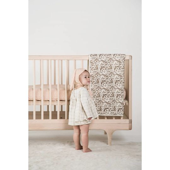 rylee + cru  muslin quilt bear folk birds double