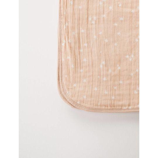 rylee + cru  muslin quilt bear stardust print