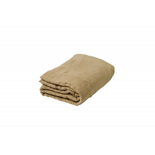 garbo&friends straw yellow muslin filled blanket 100x140 cm