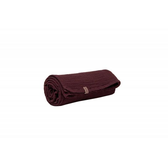 garbo&friends burgundy red hydrofiel doek swaddle 110x110