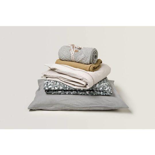 garbo&friends ollie grey cotton blanket