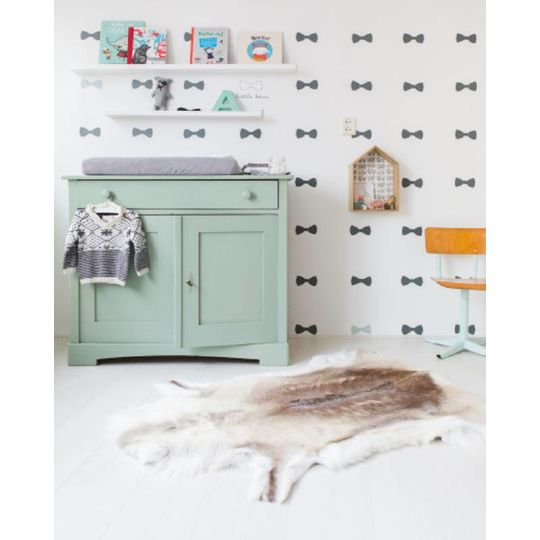bibelotte bow blauw behang