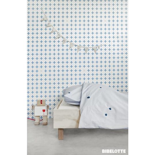 bibelotte little plus denim blue wallpaper