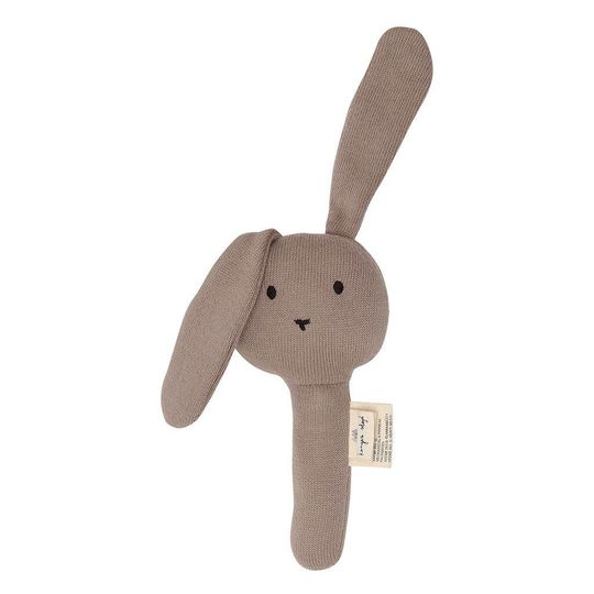 konges sløjd activity hand rattle rabbit earth