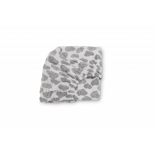 moumout fitted sheet papuche wolken 60x120