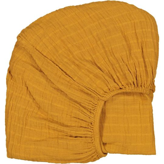 moumout fitted sheet papuche mustard 90x200