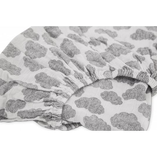 moumout fitted sheet papuche wolken 90x200