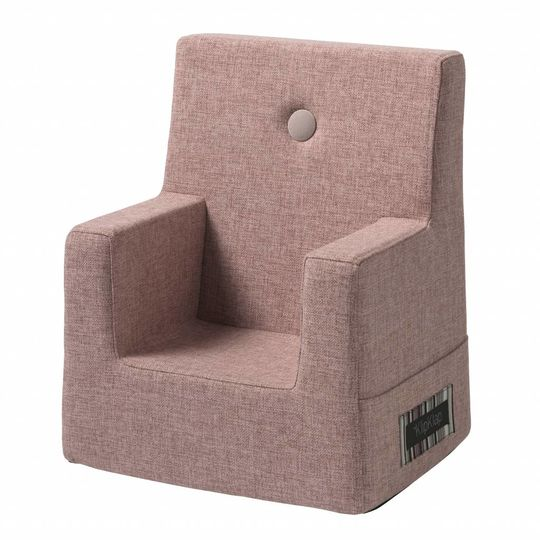 by klipklap KK kids chair (0-3 years) soft rose with rose button