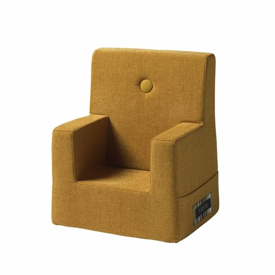 by klipklap KK kids chair (0-3 years) mustard with mustard button