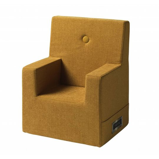 by klipklap KK kids chair XL (2-6 years) mustard with mustard button