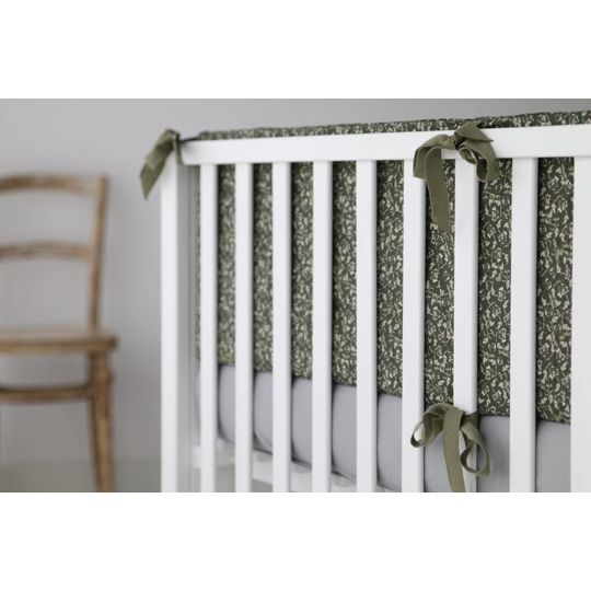 garbo&friends floral moss  crib bumper