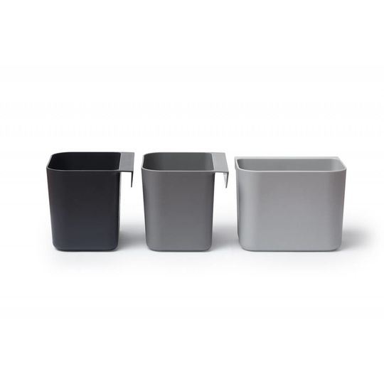 linea by leander organizers 3 pack dusty grey