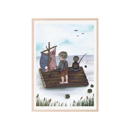 "That's Mine That's  Mine poster ""Raft fishing"" 50x70"