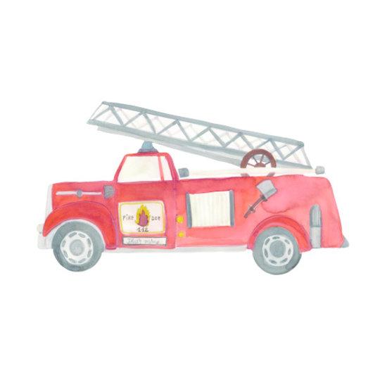 That's Mine That's Mine muursticker Brandweerauto