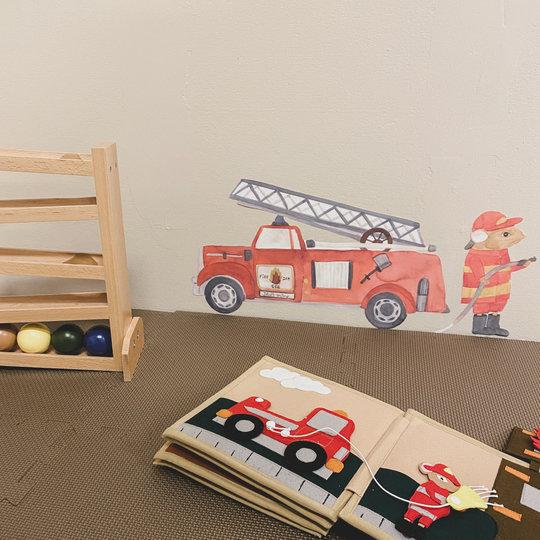 That's Mine That's Mine muursticker Sammy the firefighter