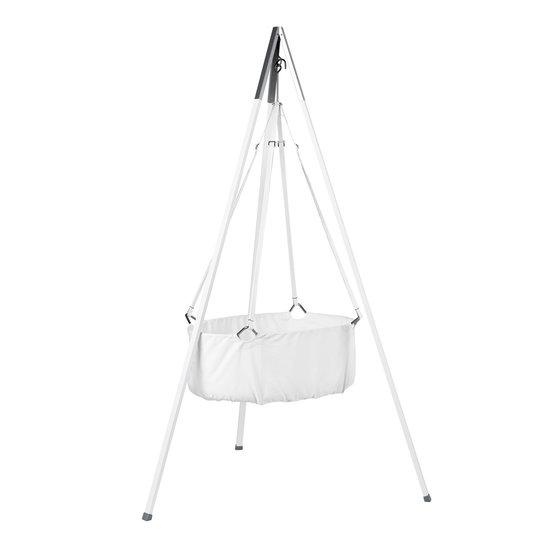 Standaard voor hangwieg aluminium wit
