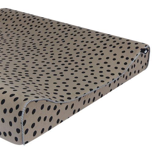 Mies & Co Mies & Co Aankleedkussenhoes bold dots dark brown
