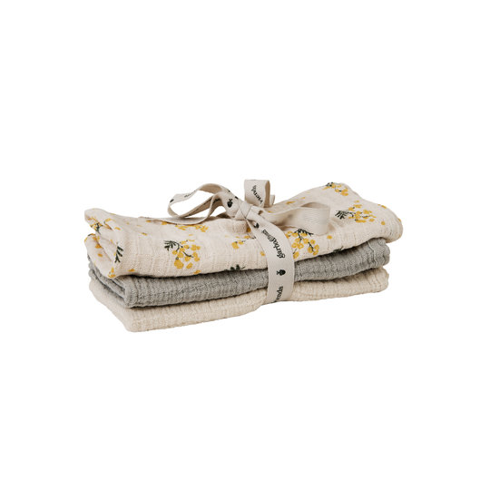 Garbo&Friends Garbo&Friends Muslin cloth mimosa 3-pack