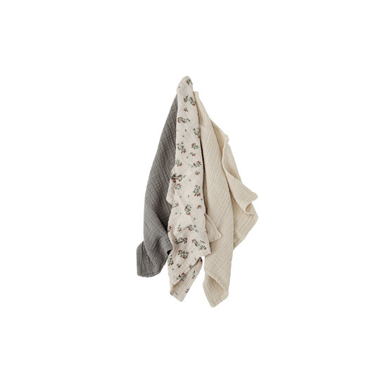 Garbo&Friends Garbo&Friends Muslin cloth Clover 3-pack