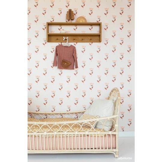 Bibelotte Bibelotte Wallpaper retro flower pink
