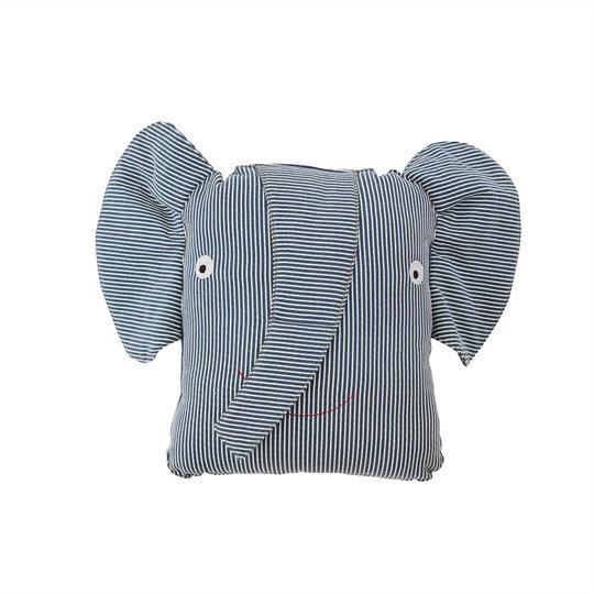 OYOY OYOY Mini Erik Elephant denim kussen