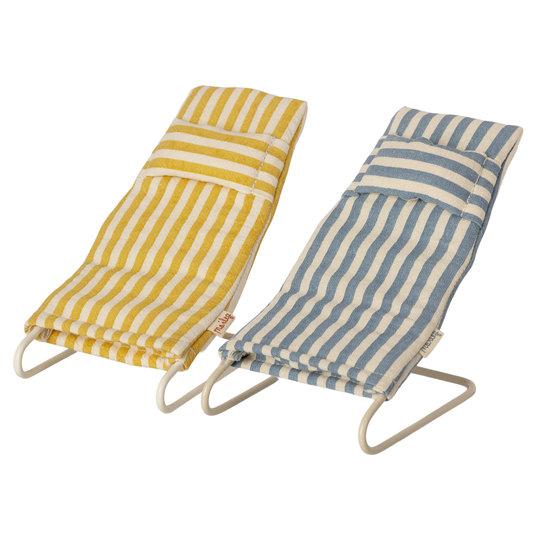 Maileg Maileg Beach mice chair set 2 pieces