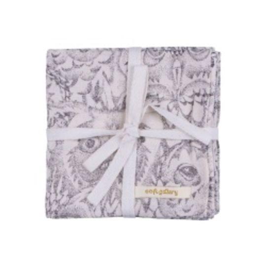soft gallery muslin cloths set of 3 cream