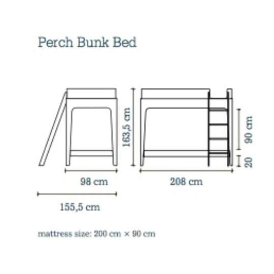 oeuf nyc perch bunk bed birch-white
