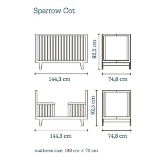 oeuf nyc sparrow crib white