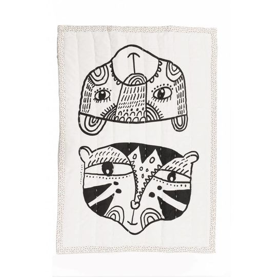 wee gallery tiger and bear quilt / play blanket