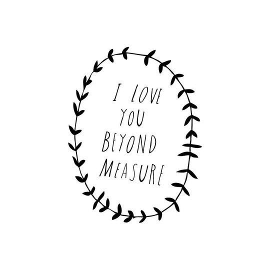 Shanna Murray beyond measure muursticker hoofdletters