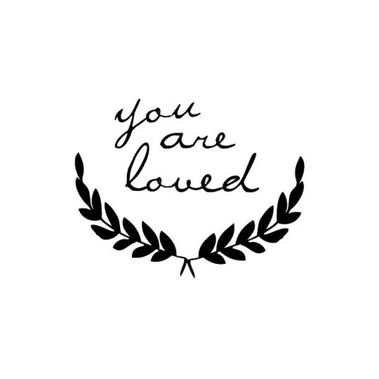 shanna murray you are loved wall sticker lowercase