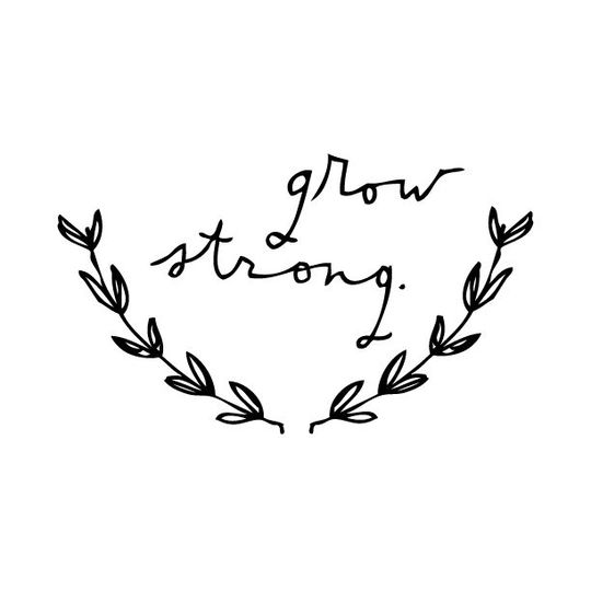shanna murray grow strong muursticker kleine letters