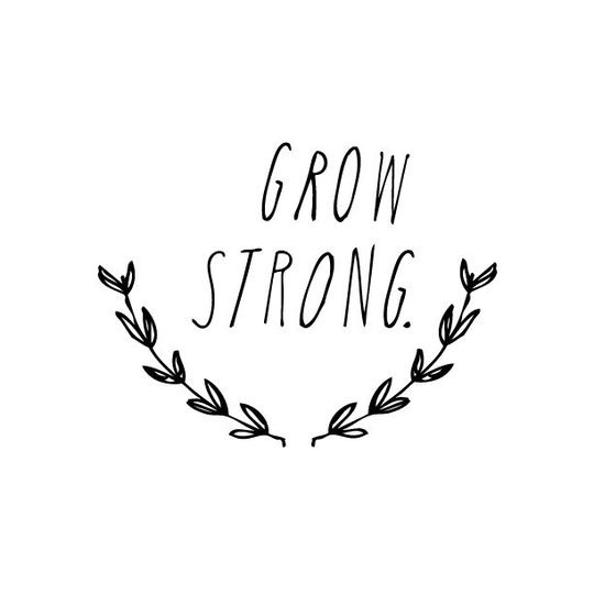 shanna murray grow strong muursticker hoofdletters