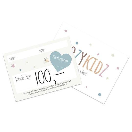 cozykidz cadeaubon t.w.v. 100 euro