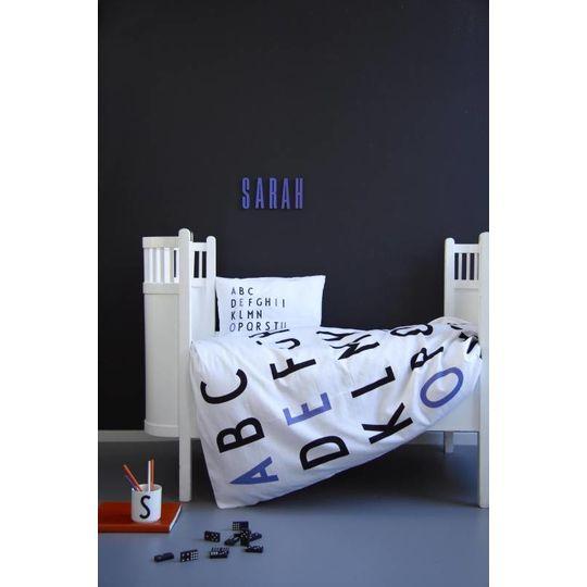 design letters junior duvet cover purple -20%