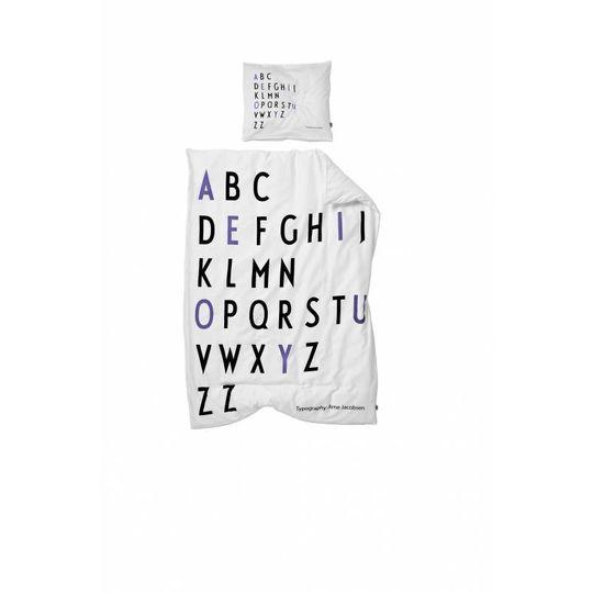 design letters junior dekbed paars -20%